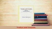 PDF  Troilus and Cressida  EBook