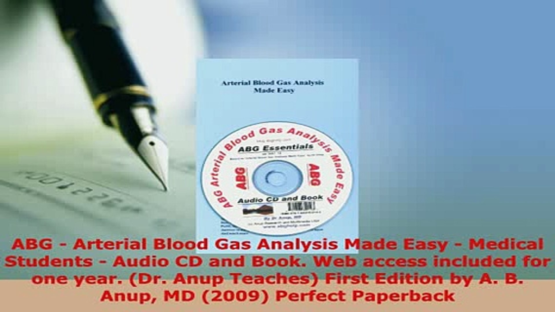 Download Abg Arterial Blood Gas Analysis Made Easy Medical Students Audio Cd And Book Web Read Online