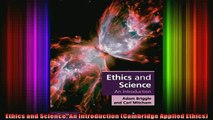 Full Free PDF Downlaod  Ethics and Science An Introduction Cambridge Applied Ethics Full Ebook Online Free