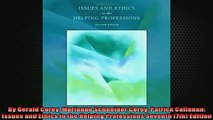 Downlaod Full PDF Free  By Gerald Corey Marianne Schneider Corey Patrick Callanan Issues and Ethics in the Full EBook