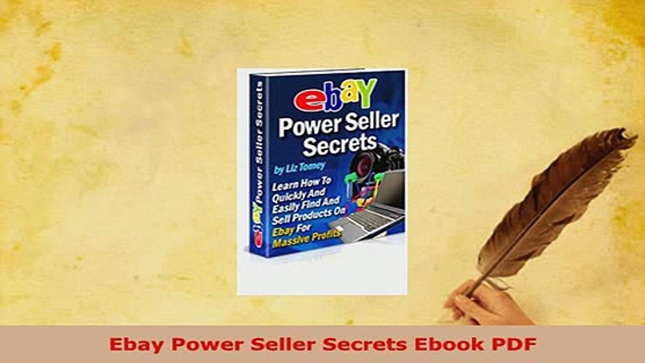 Download Ebay Power Seller Secrets Ebook Pdf Read Online Video Dailymotion