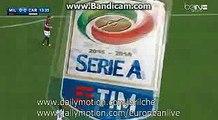 Carlos Bacca Incredible MISS HD - AC Milan 0 - 0 Carpi SERIE A 21.04