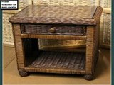 Wicker End Table | Wicker End Table With Drawer
