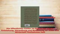 PDF  Die öffentlichen Gelder im Deutschen Reich Entstehung Verwaltung und Bedeutung für Staat Read Online