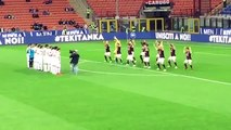 AC Milan players performed their own haka before their match with Carpi on Thurs