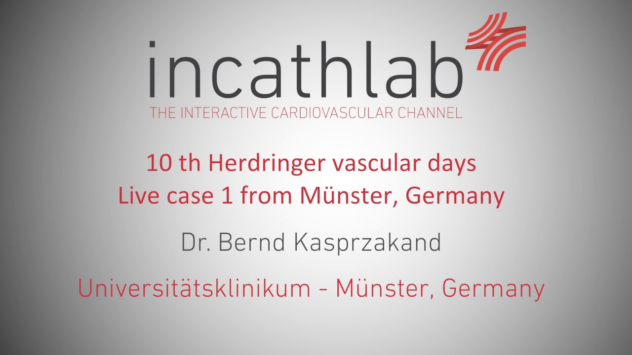 Vascular days 2016 - Live case 3