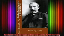 READ book  Random Reminiscences of Men and Events Autobiography Full Free
