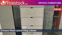 5 Drawer Metal Lateral File Cabinets