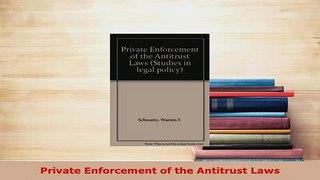 Download Private Enforcement of the Antitrust Laws