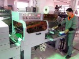 máy cắt dán màng co POF tự động, máy màng co hộp tự động đóng gói màng co POF tự động, máy cắt dán màng co POF tự động