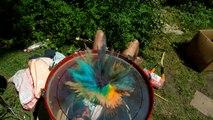 Jouez sur une batterie en mode couleurs de Coldplay en slow motion  !