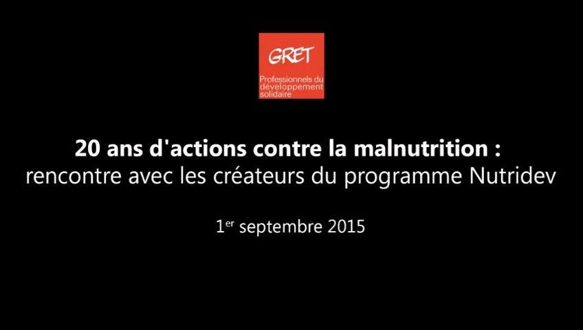 20 ans d'actions contre la malnutrition : rencontre avec les fondateurs du programme Nutridev