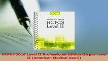 PDF  HCPCS 2016 Level II Professional Edition Hcpcs Level II American Medical Assn PDF Online