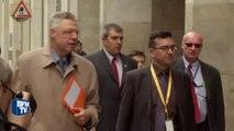 Attentats de Bruxelles: un mois après, les parlementaires belges déposent une gerbe à la station Maelbeek