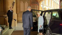 Obamas visit Windsor Castle for lunch with the Queen