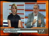 Alberto Dahik analiza las medidas económicas tras el terremoto