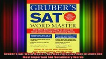 READ book  Grubers SAT Word Master The Most Effective Way to Learn the Most Important SAT Full Free