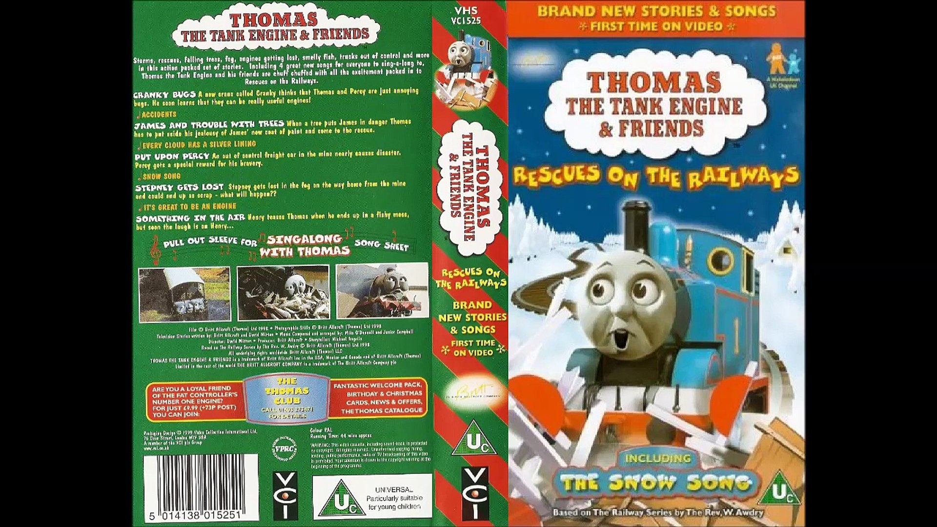 Thomas the Tank Engine & Friends - Rescues on the Railways (1999, UK VHS)