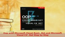 Download  Oop with Microsoft Visual Basic Net and Microsoft Visual C Net Step by Step Free Books