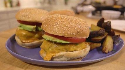 Turkey Zucchini Burgers with Tahini Sauce