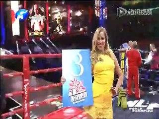 20160422 武林风 王洪祥VSking(第三局):杀手锏!王洪祥低扫连劈 对手无力反击