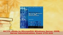 PDF  MCITP Guide to Microsoft Windows Server 2008 Server Administration Exam 70646  EBook