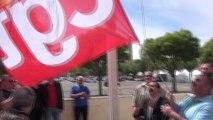 Remise du drapeau CGT du 51ème congrès de Marseille