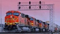 NS & BNSF Tanker Train W/ NS DPU Rare! Sandusky, OH