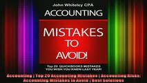 DOWNLOAD FULL EBOOK  Accounting  Top 20 Accounting Mistakes  Accounting Risks Accounting Mistakes to Avoid  Full Free