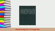 Download  Governing for Prosperity Download Online