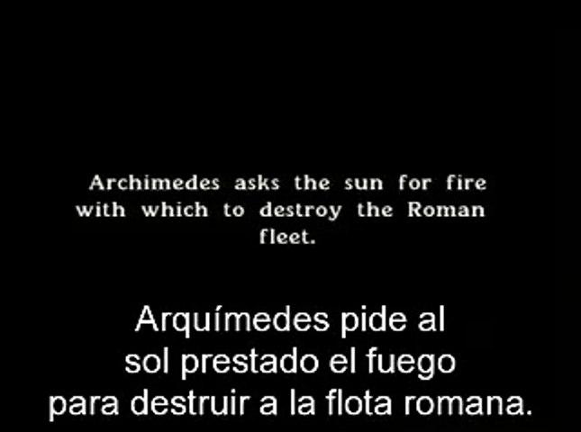 Arquimedes y el fuego