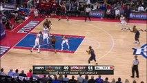 LeBron James Baseline Dunk   Cavaliers vs Pistons   Game 3   April 22, 2016   NBA Playoffs