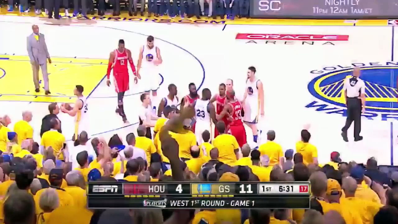 Stephen Curry fights with Patrick Beverley – Warriors vs Rockets NBA playoffs 2016