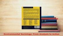 PDF  Environmental Sociology From Analysis to Action PDF Full Ebook