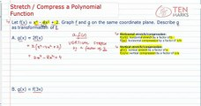 Compress or Stretch a Polynomial Function