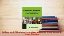 Download  Esther and Athaliah two plays adapted from those of Jean Racine  Read Online