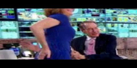 CBS's Charlie Rose Offers to Spank Norah O'Donnell As She Slaps Her Own Butt