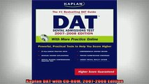 READ book  Kaplan DAT with CDROM 20072008 Edition Full EBook