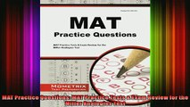 DOWNLOAD FREE Ebooks  MAT Practice Questions MAT Practice Tests  Exam Review for the Miller Analogies Test Full Free
