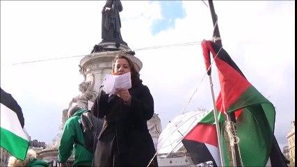 Intervention contre les guerres de la France à Nuit debout (république) ! A l'occasion de la manifestation de soutien aux prisonniers Palestiniens et Georges Abdallah