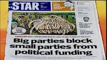 How big parties block small parties from big monies