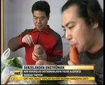 Çin'de İki kardeş sebzelerle Enstrüman Yapıyor