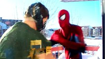 Spiderman vs Bane in Real Life! Spiderman is Trapped in a Jail - Fun Superhero Battle Movie! [HD, 720p]