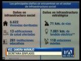 Senplades hace evaluación de daños tras terremoto
