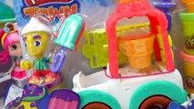 Playdoh Town Ice Cream Maker Truck Man with Disney Frozen Queen Elsa and Princes