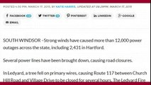 9K Power Outages in CT due to High Winds