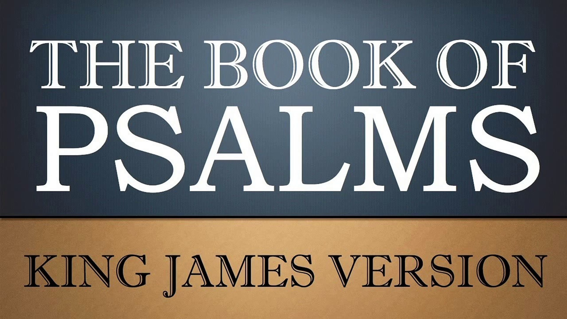 Book Of Psalms Kjv