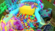GIANT BALL PIT POOL ~ World's Largest Kids Baby Pool Ball Pit Family Summer Fun Slide Learn Tricks