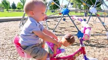 Baby Alive BABY ATTACK Worlds Biggest CRAZY Wild Baby Boy Stroller CRASH Baby Alive Boo Doll