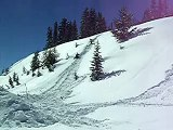 Back flip at Rabbit Ears Pass, Steamboat Springs, Colorado